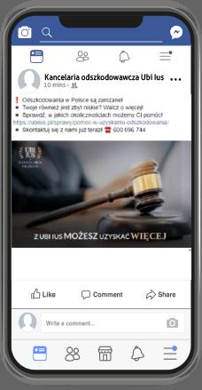Ubi Ius odszkodowania Social Media